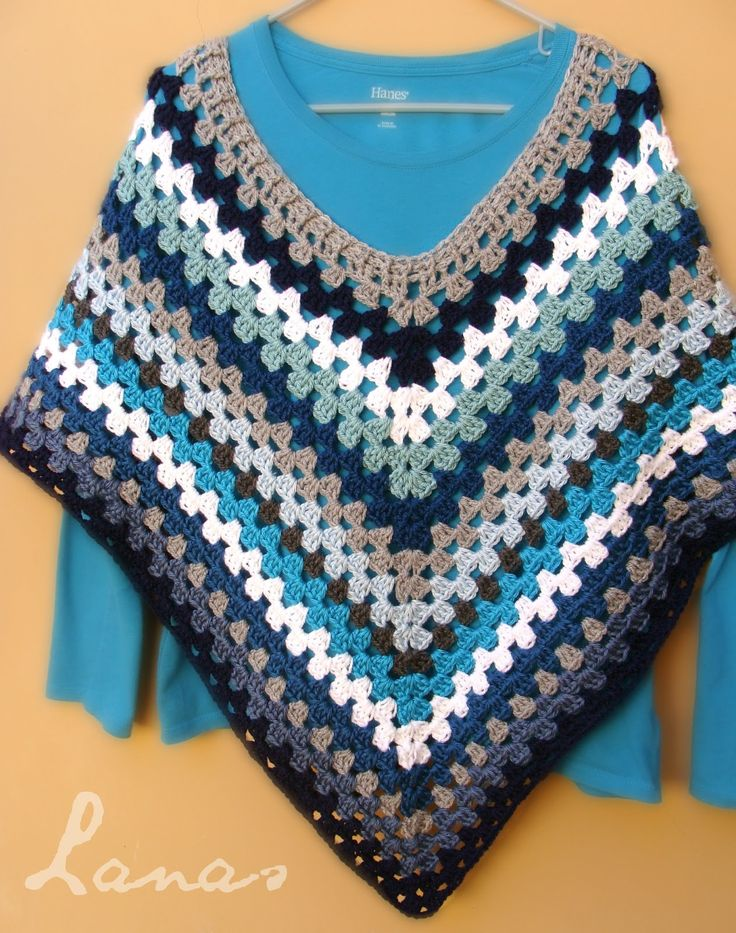Mi Primer Poncho   (Crochet * Stash-Buster)           For a long time I have been dreaming of making a poncho…and I finally did…   Desde h...