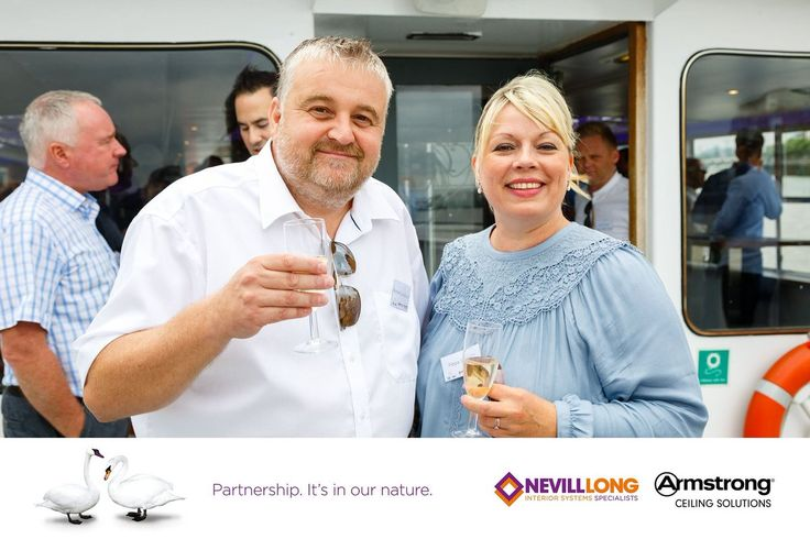 """""""Richard Longhurst from @ArmstrongCeilin and Pippa Stoner from Nevill Long @encon_group enjoying our trip on the Thames"""""""