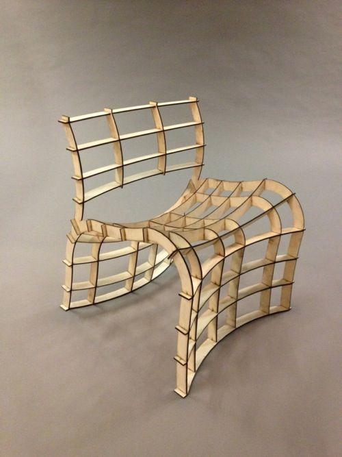 ♂ Frederik Alexander Werner, 30-minute Lasercut Chair. @Deidra Brocké Wallace