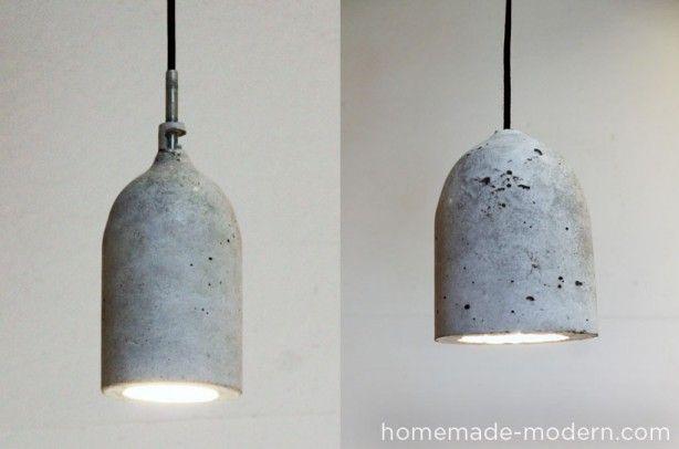 lampjes om zelf te maken, beton!