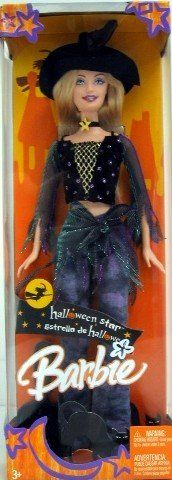 Barbie Halloween Star. 2006 - Mattel - 12 Inch Doll. Halloween Star Barbie. Wearing Witches Hat, Star Necklace, Jeans & more. Out of Production. New - Limited Edition.
