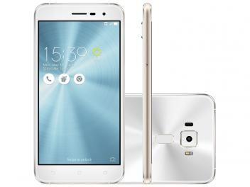 "Smartphone Asus ZenFone 3 32GB Branco Dual Chip - 4G Câm. 16MP   Selfie 8MP Tela 5.2"" Proc. Qualcomm"