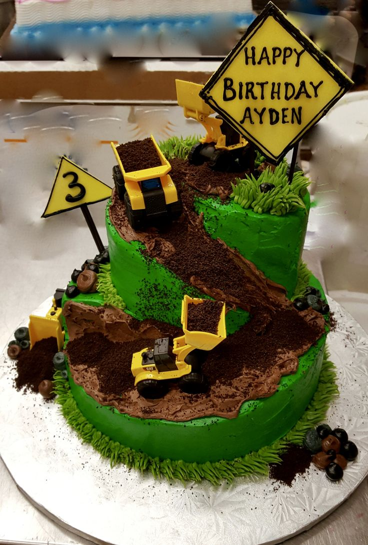 calumet bakery construction site cake decorated cakesbakeriesconstruction - Decorated Cakes