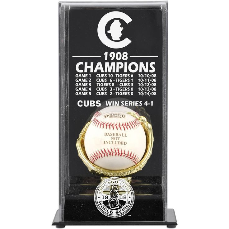 Chicago Cubs Fanatics Authentic 1908 World Series Champs Display Case