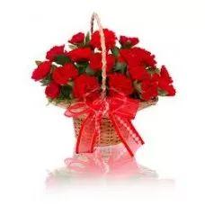 Secret Friend, Red Carnations, Carnation Basket