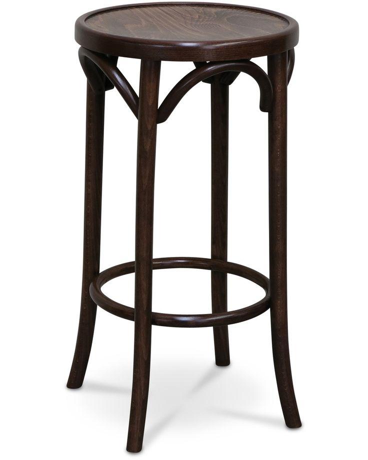 Hoop bar stool - walnut, 68cm - Cintesi