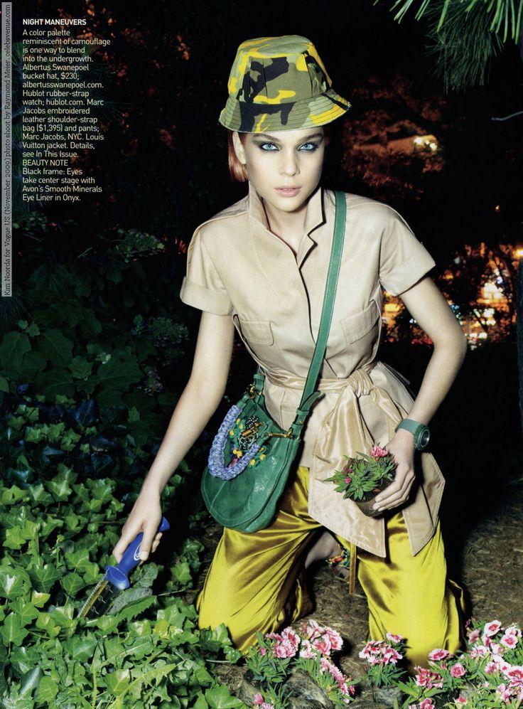 Kim Noorda for Vogue US (November 2009) photo shoot by Raymond Meier #Kim_Noorda