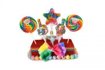 Rectangle Circus Theme Lollipop Centerpiece by EdibleWeddingsAndMore for $16.99
