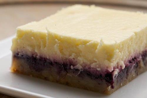 Lemon blueberry cheesecake bars- Sounds delicious!