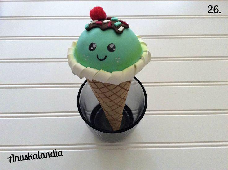 Boli cucurucho helado goma eva kawaii.