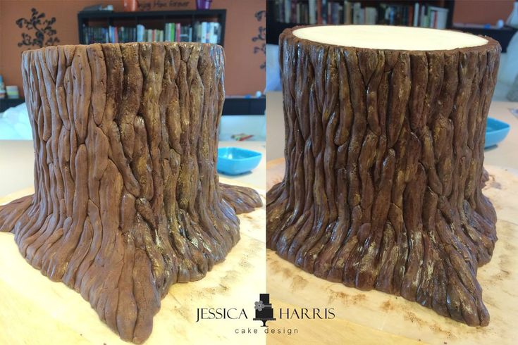 tree stump cake tutorial