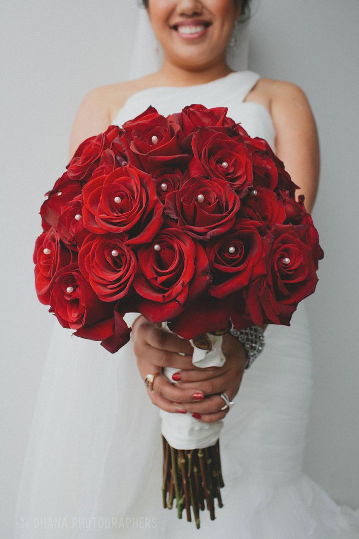 red church wedding