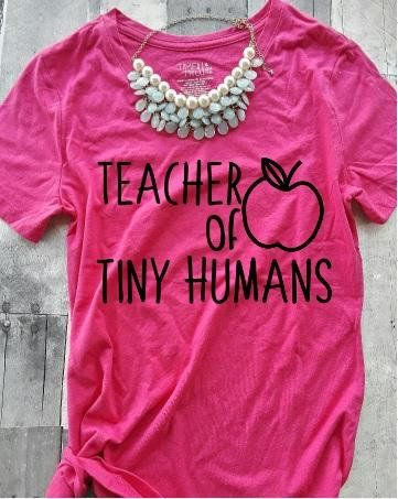 9ba183d81 Teacher of tiny humans shirt - Personalized Teacher shirt - Teacher ...