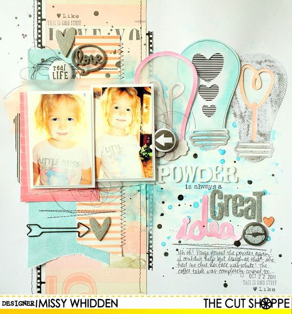 """The Cut Shoppe: A Great Idea by Missy Whidden uses """"Light it Up"""" cut file."""