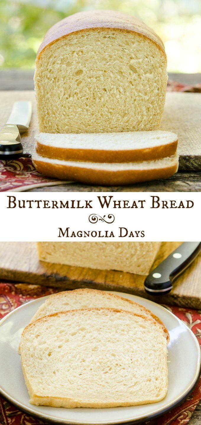 Buttermilk Wheat Bread is a fantastic sandwich bread with a touch of honey and lightness from white whole wheat.