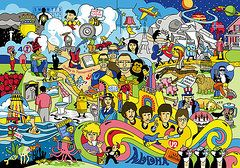 Musicians Art - 70 illustrated Beatles song titles by Ron Magnes