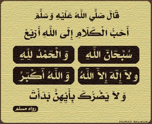 The four most beloved words to Allah ~ Information about Islam