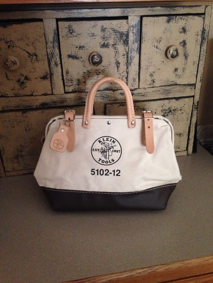 """My 12"""" Klein Tool Bag used for a purse! ❤️"""