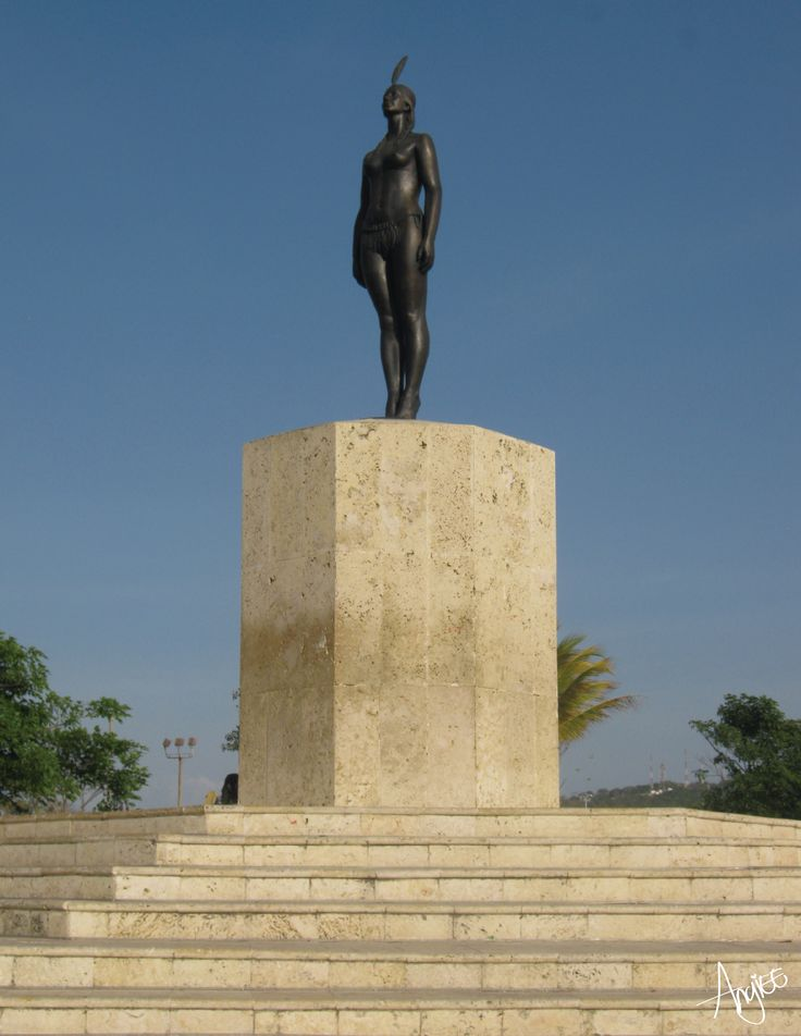 Colombia y sus hermosos monumentos como la India Catalina. Lugar: Cartagena de Indias Angiee Padilla© 2016 todos los derechos reservados.