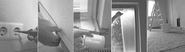 Bevor du die Wand streichst, sauber Abkleben. Mehr dazu in den Tipps & Tricks auf www.kolorat.de #KOLORAT #streichen