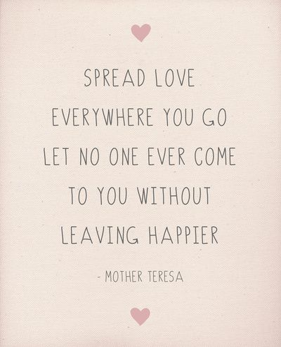 Spread Love Wherever You Go Art Print by Rachel Follett