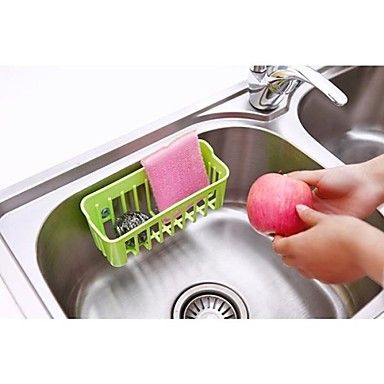 Candy Colors Suction Drain Basket Dishcloth Rag Hanging Storage Basket(Random Color) - USD $ 6.99