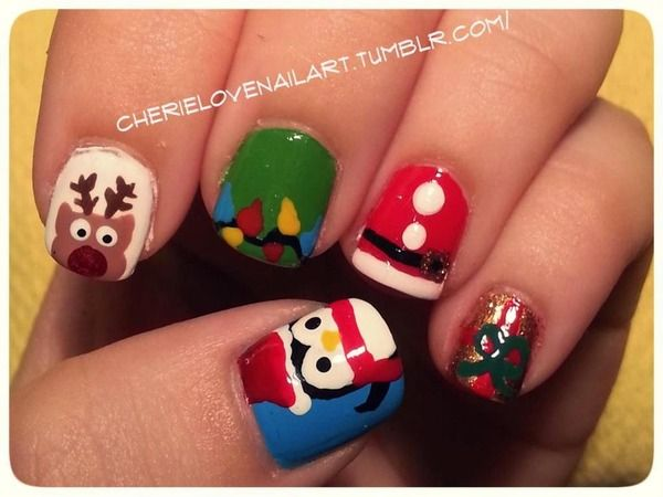 christmas nail art 2012 check out wwwmynailpolishobsessioncom for more nail art ideas - Nail Design Ideas 2012