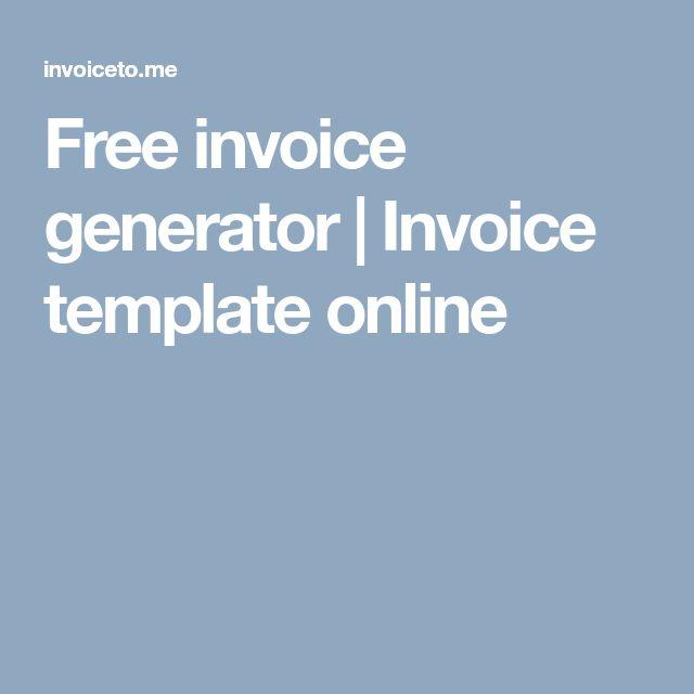 Free invoice generator | Invoice template online