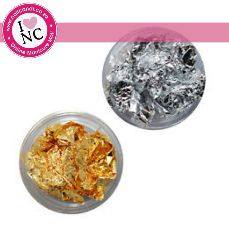 Foil Flakes available in gold from NailCandi.