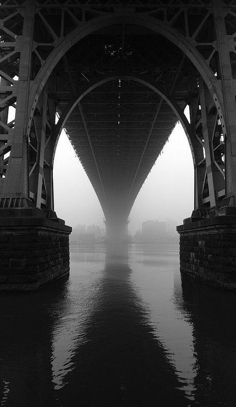 ☾ Midnight Dreams ☽  dreamy & dramatic black and white photography - Under The Bridge- Mark Hanrahan