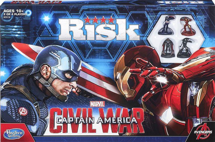 Hasbro Gaming - Risk: Captain America: Civil War Edition Game - Multi, B5518
