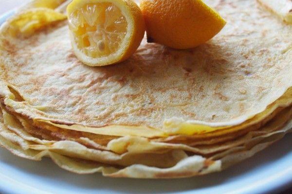 Stack of Pancakes with Lemon & Sugar