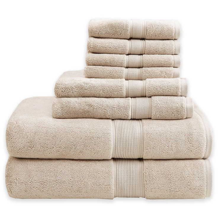 Madison Park 8-Piece Cotton Towel Set