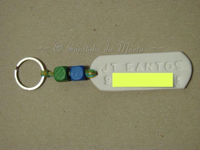 Porta-Chaves Personalizado com Nome e Contacto