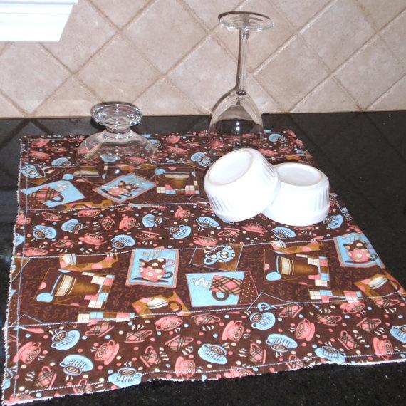 Coffee Themed Dish Drying Mat, $ 14.99