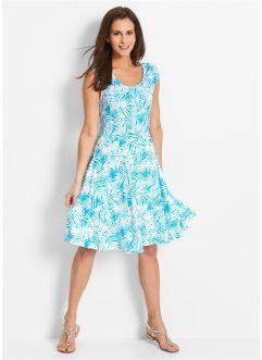 Úpletové šaty, bpc bonprix collection, bílo-karibsky modrá