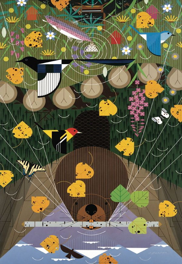 Charley Harper The Rocky Mountains Jigsaw Puzzle
