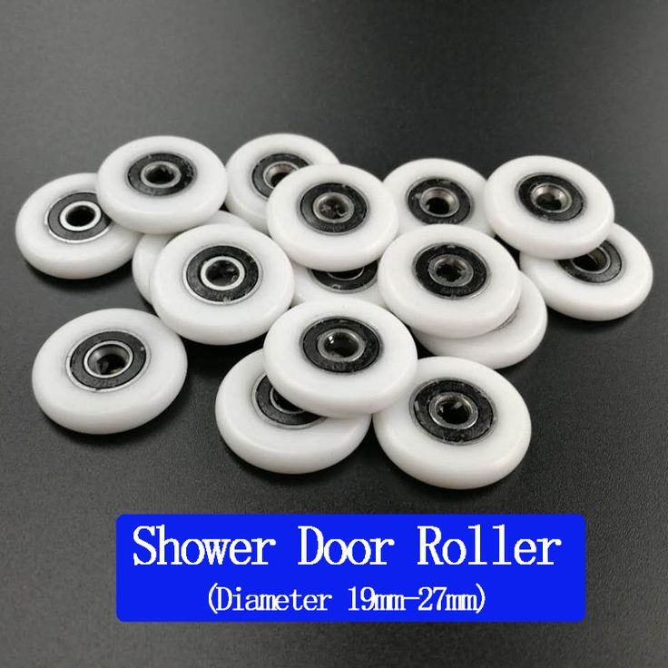 Free Shipping bathroom door runner sliding shower door roller.outside diameter 19mm/20mm/22mm/23mm/25mm/27mm bearing bore 5mm. #Affiliate