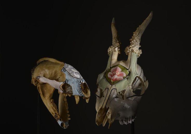http://clelia.org/ crânes peints