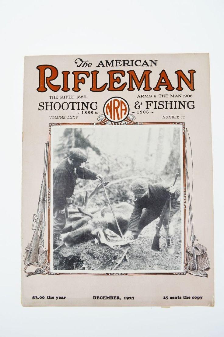 The American Rifleman NRA Magazine December 1927