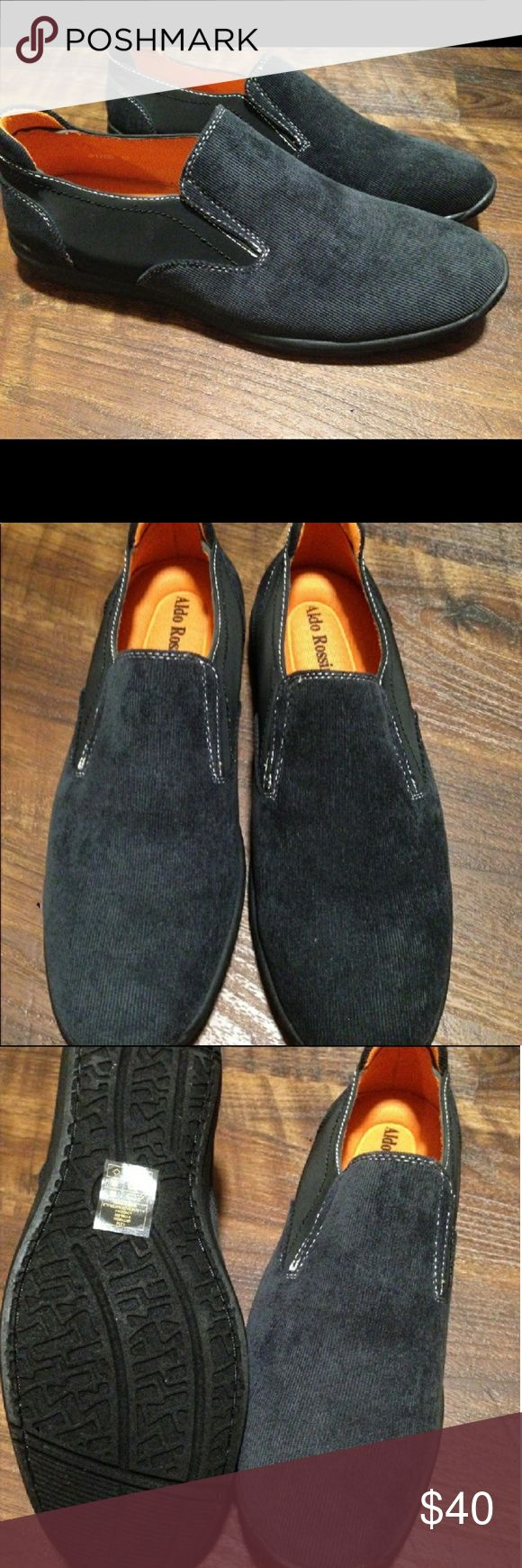 Brand NWT* Black Loafer/Slip On Brand NWT Aldo Rossini Black/Loafer/Slip On  size: Tag says 12 but shoe runs small fits like 11or 11.5 , excellent condition , with box , smoke free an pet free home. Aldo Rossini Shoes Loafers & Slip-Ons