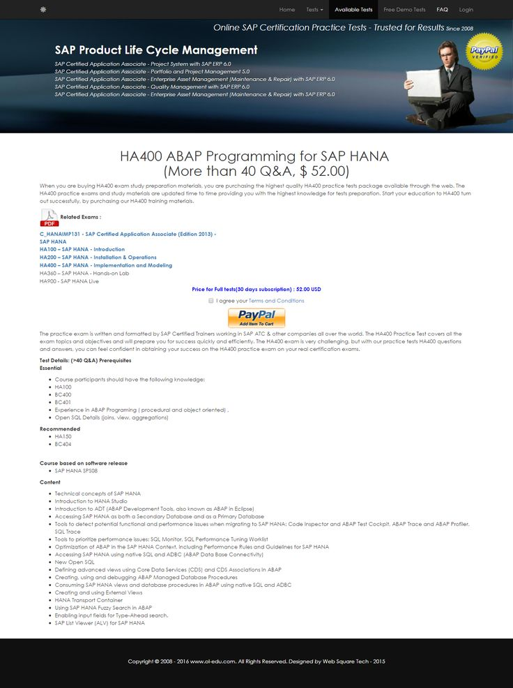 79 best sap certification questions and answers images on pinterest ha400 abap programming for sap hana fandeluxe Choice Image