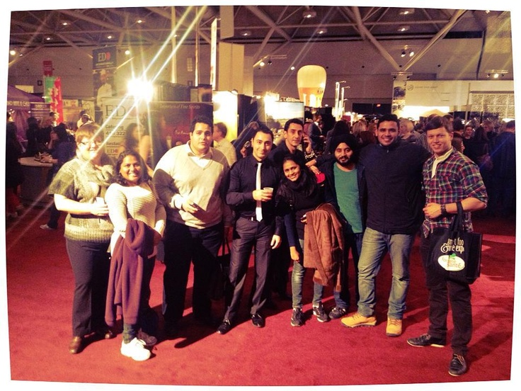 IBS Students at a Wine trade Show - Toronto 2012