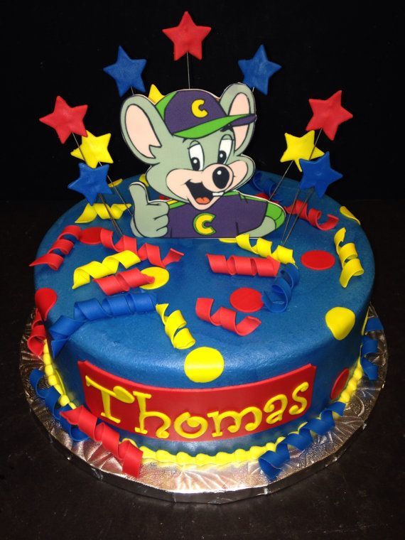Chuck E Cheese Edible Cake Decor on Etsy, $25.00