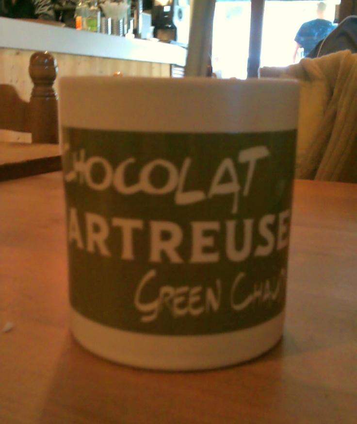 Nouveau mug Green Chaud - Le Sappey en chartreuse - Le Café de la Place