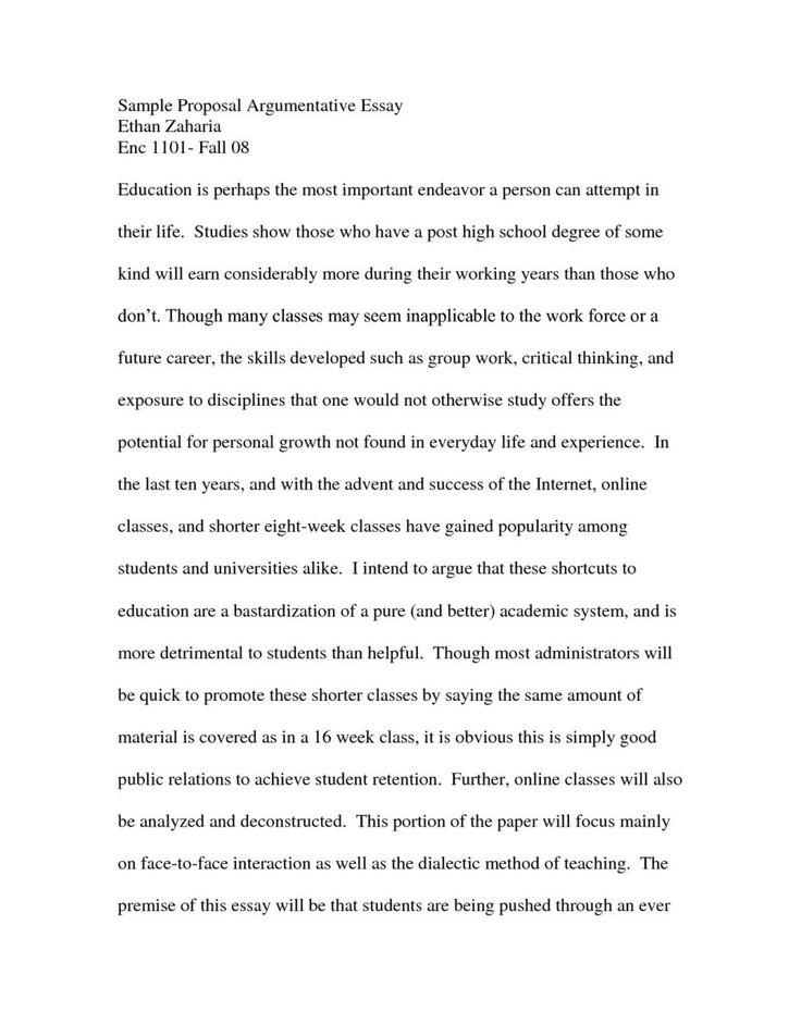 Classical Argument Essay Example Sample About Education Write Your