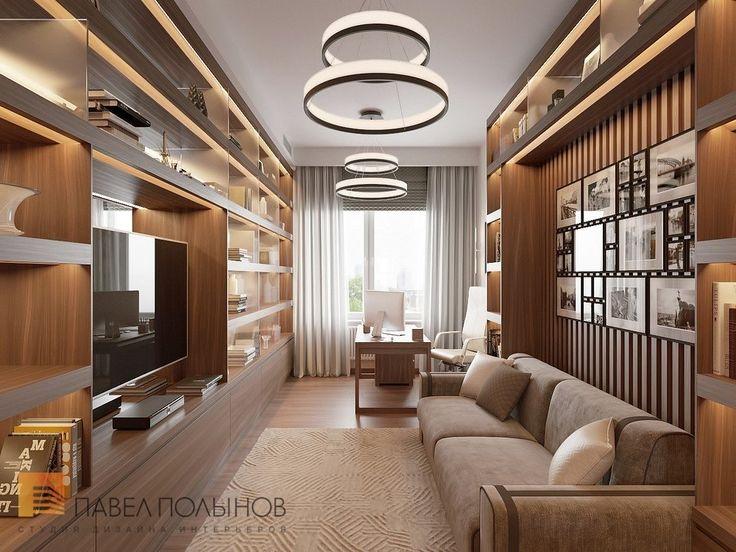 Фото кабинет из проекта «Дизайн интерьера трехкомнатной квартиры 127 кв.м., ЖК «Парадный квартал», современный стиль»