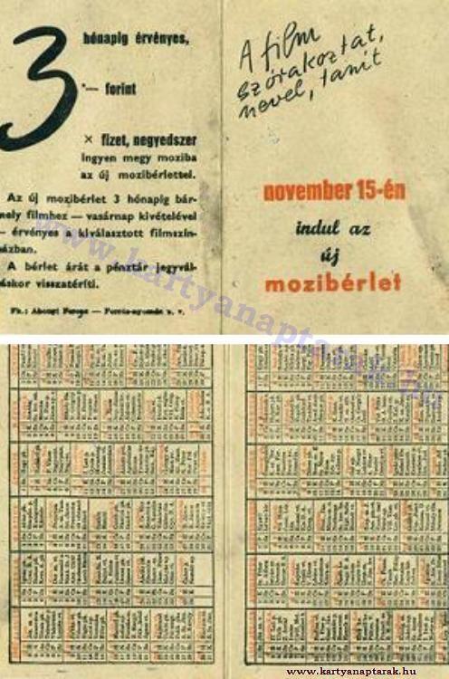 1950 - 1950_0010 - Régi magyar kártyanaptárak