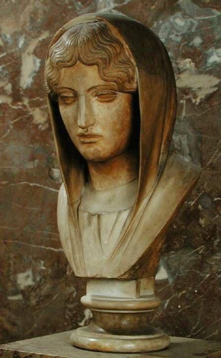 Head of a woman  Aspasia of Miletos  Greek