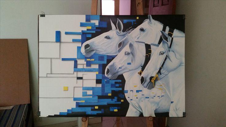 Nel blu di pinto di blu - caballos andaluz
